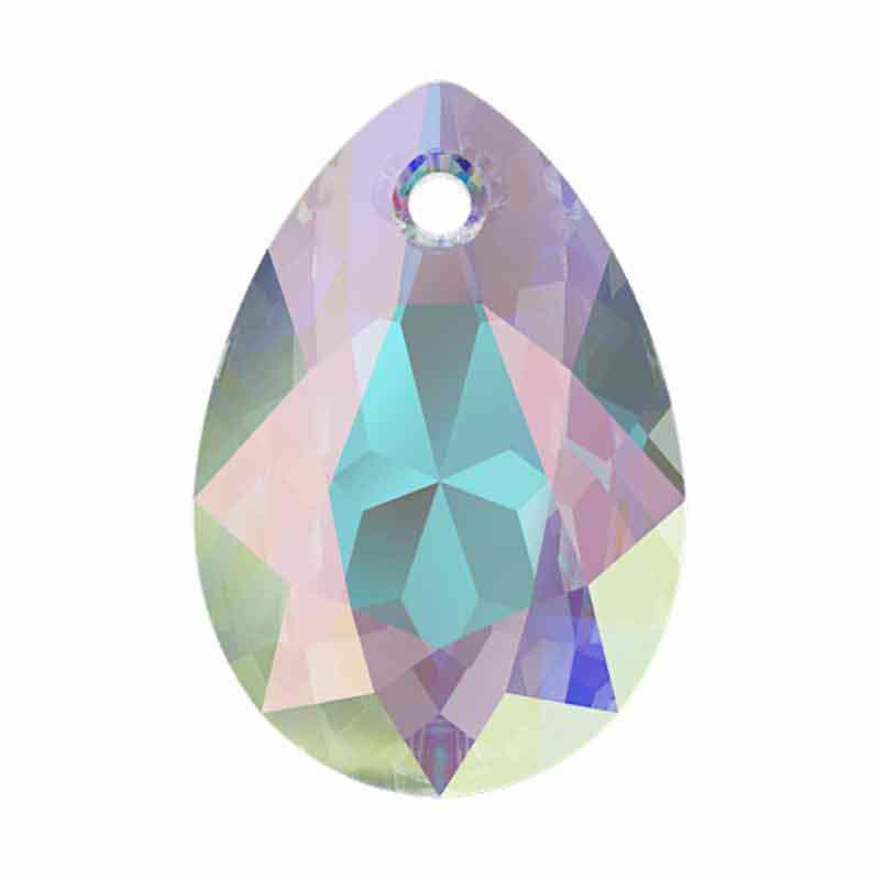 16MM Crystal AB Pear Cut Pendant 6433 SWAROVSKI