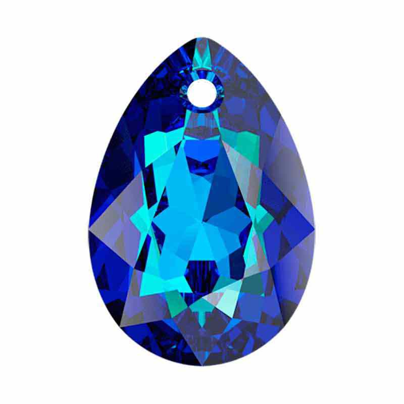 16MM Bermuda Blue Pear Cut Ripatsid 6433 SWAROVSKI