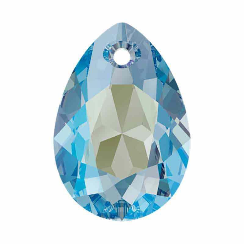 16MM Aquamarine Shimmer Pear Cut Pendant 6433 SWAROVSKI