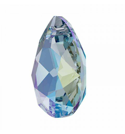 16MM Aquamarine Shimmer Pear Cut Pendant 6433 SWAROVSKI