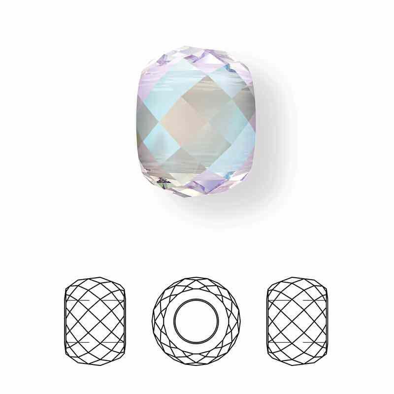 11MM Crystal Shimmer 2x 5043 Briolette XXL Bead SWAROVSKI