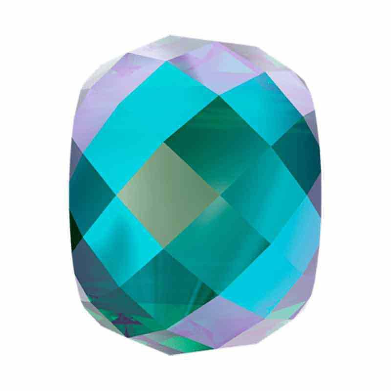 11MM Emerald Shimmer 2x 5043 Briolette XXL helmed SWAROVSKI