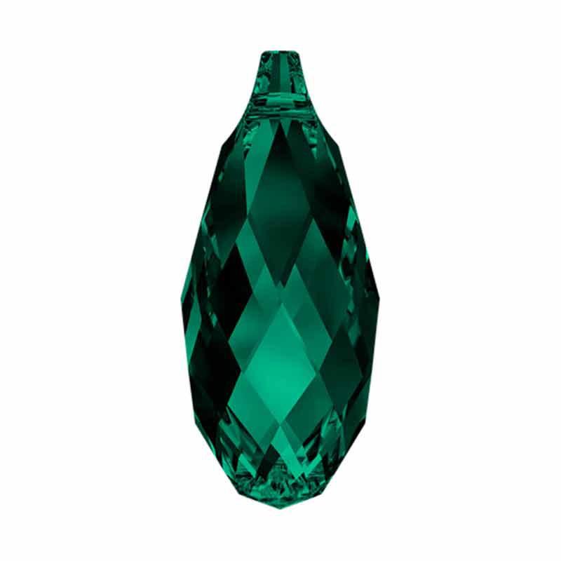 17x8.5MM Emerald Briolette Pendant 6010 SWAROVSKI
