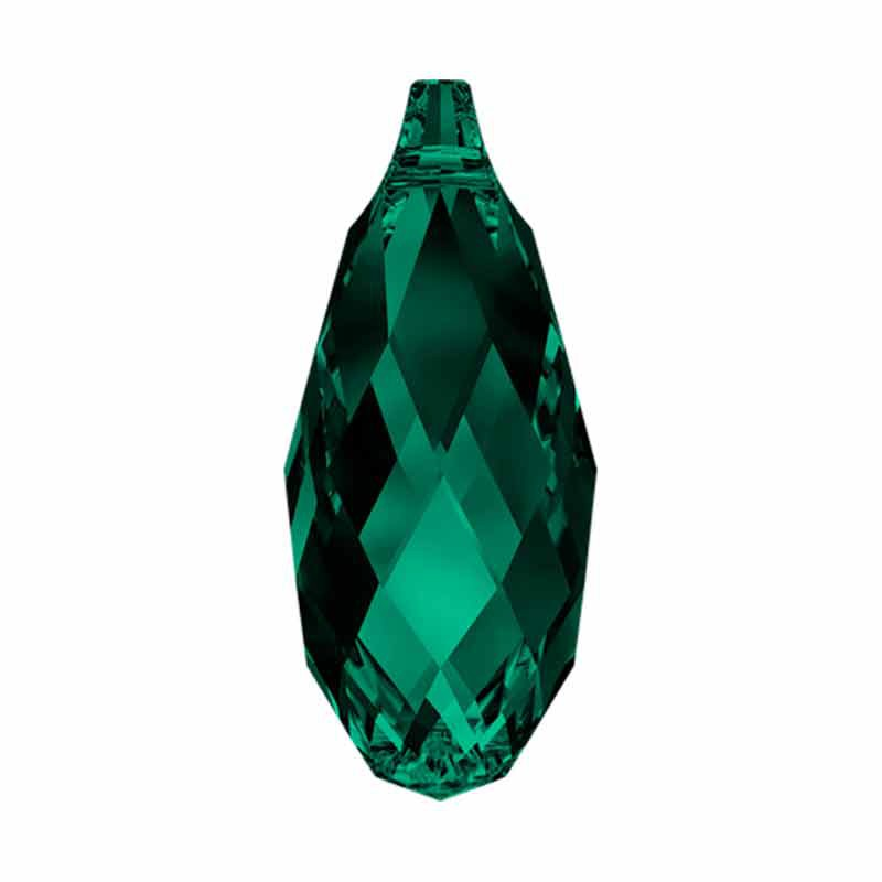 17x8.5MM Emerald Briolette Ripatsid 6010 SWAROVSKI