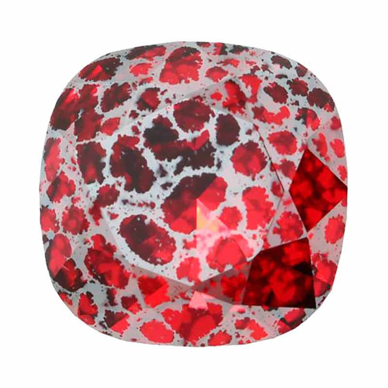 10mm Scarlet Silver Patina F Fancy Stone 4470 Swarovski