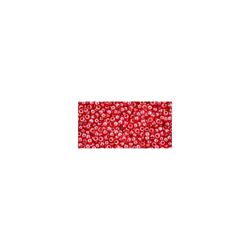 TR-11-109 Luster Crystal/Tropical Sunset-Lined TOHO Seed Beads
