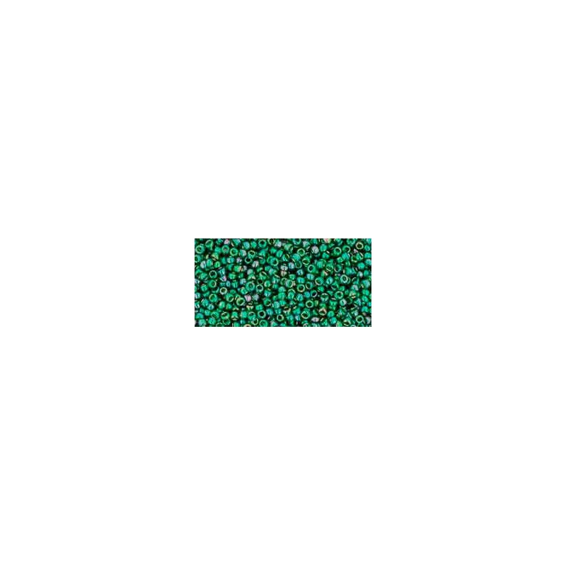 TR-15-322 Gold-Lustered Emerald TOHO Seed Beads
