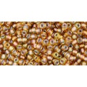 TR-11-278 GOLD LINED RAINBOW TOPAZ TOHO SEED BEADS