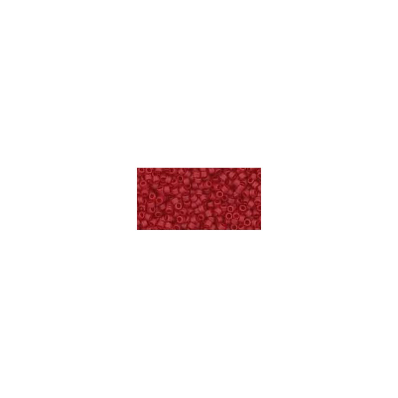 TT-01-5CF Transparent-Frosted Ruby ТОХО Трэжерс Бисер