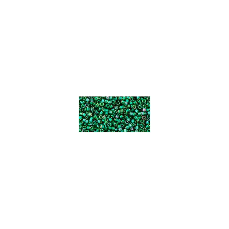 TT-01-322 Gold-Lustered Emerald TOHO Treasures Seed Beads