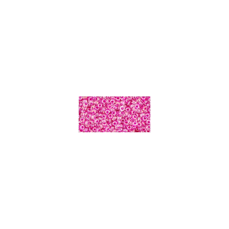 TR-11-350 INSIDE-COLOR CRYSTAL/FUSCHIA TOHO SEED BEADS