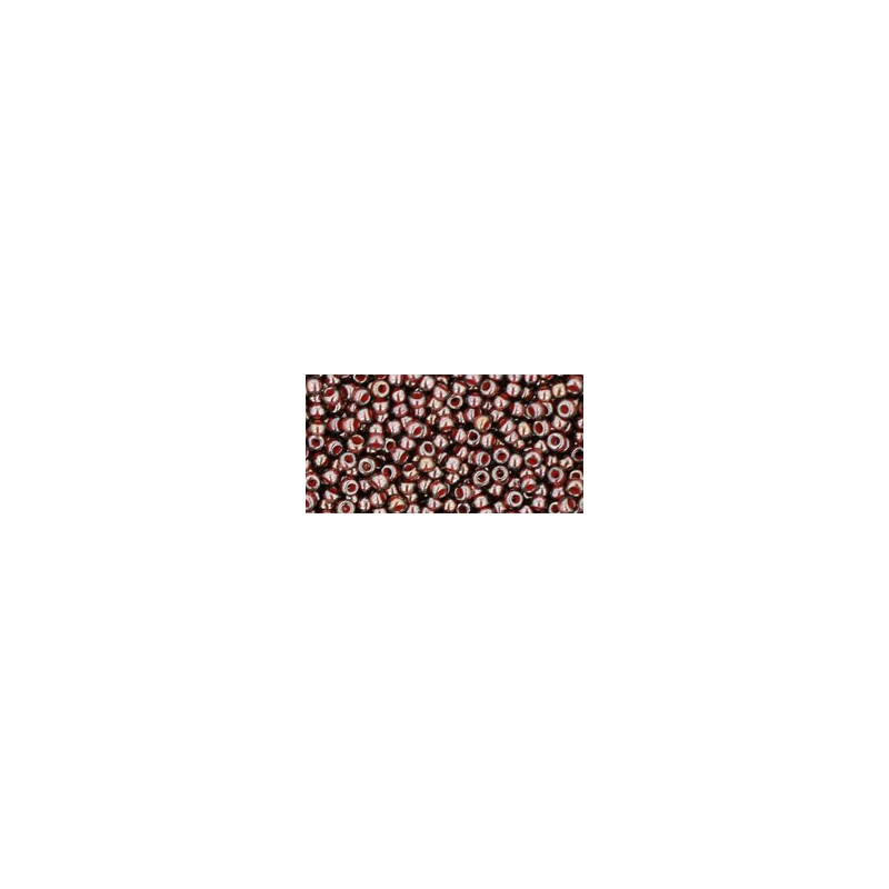 TR-11-363 INSIDE-COLOR MONTANA BLUE/OXBLOOD LINED TOHO SEED BEADS