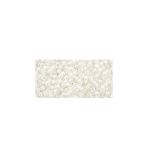 TR-11-777 INSIDE-COLOR RAINBOW CRYSTAL/CRME LINED TOHO SEED BEADS