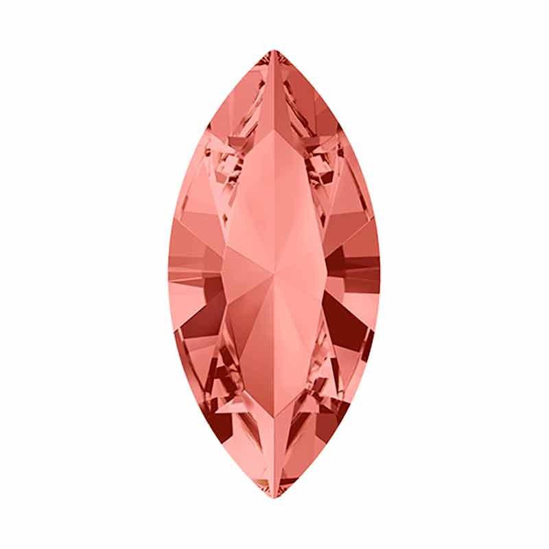 15x7mm Rose Peach F Navette Fancy Stone 4228 Swarovski