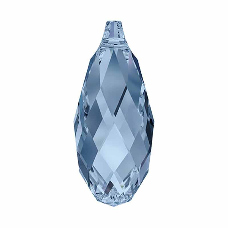 13x6.5MM Denim Blue Briolette Ripatsid 6010 SWAROVSKI