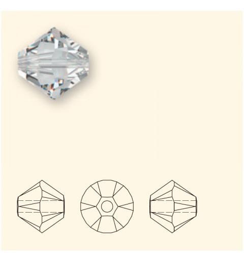 3MM Crystal Silver Shade 5328 XILION Bi-Cone Helmed SWAROVSKI
