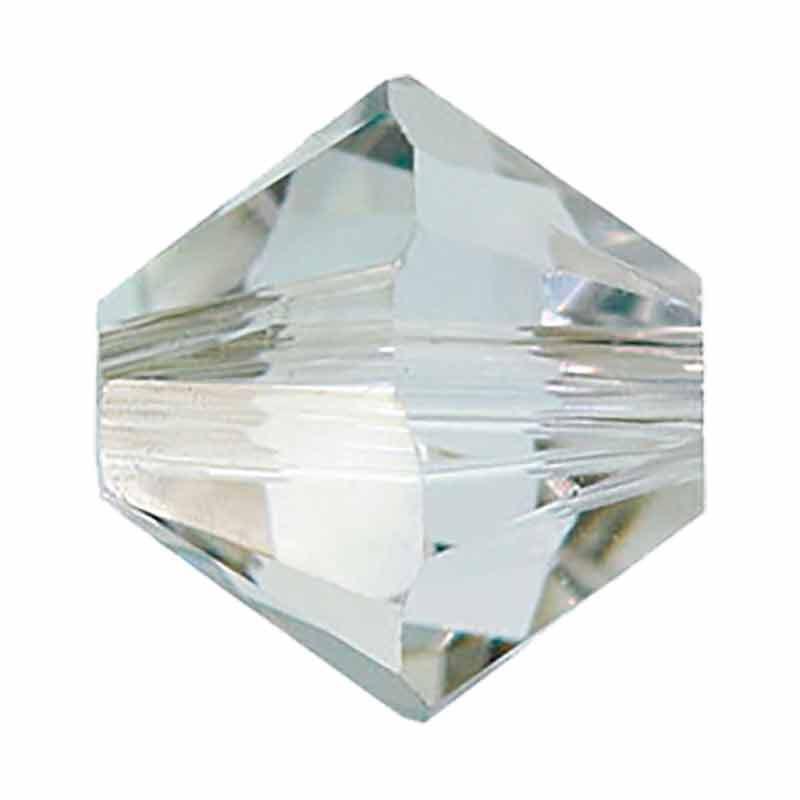5MM Crystal Silver Shade 5328 XILION Bi-Cone Beads SWAROVSKI