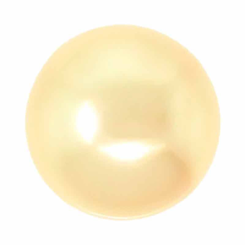 6MM Kuldne Crystal Ümmargune Pärl (001 296) 5810 SWAROVSKI
