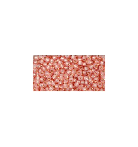 TR-11-2111 SILVER-LINED MILKY PEACH TOHO SEED BEADS