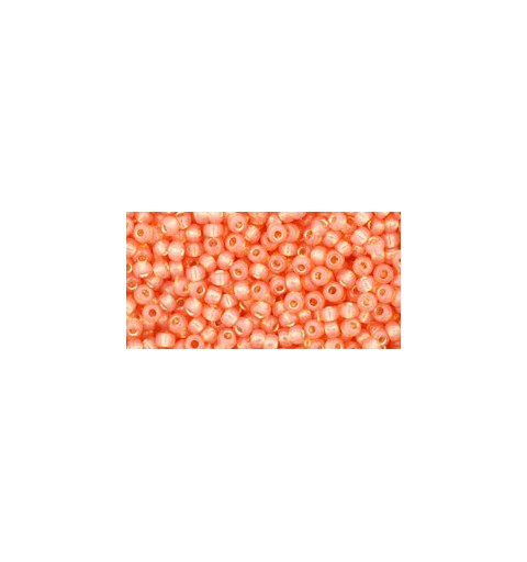TR-11-2112 SILVER-LINED MILKY GRAPEFRUIT TOHO SEED BEADS