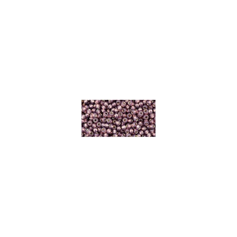 TR-11-2114 SILVER-LINED MILKY NUTMEG TOHO SEED BEADS