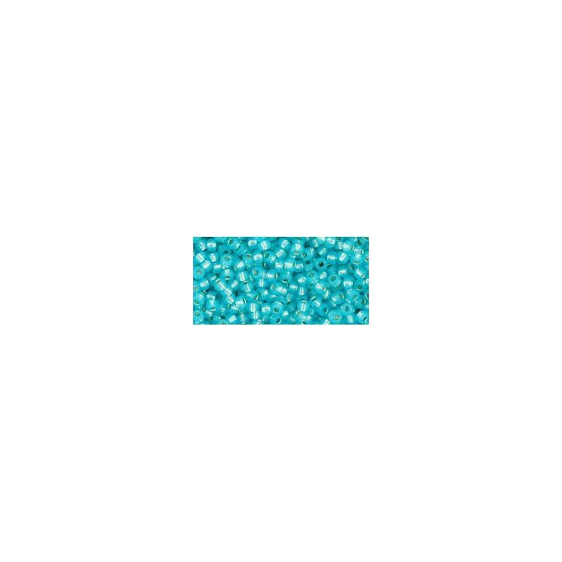 TR-11-2117 SILVER-LINED MILKY AQUA TOHO SEED BEADS