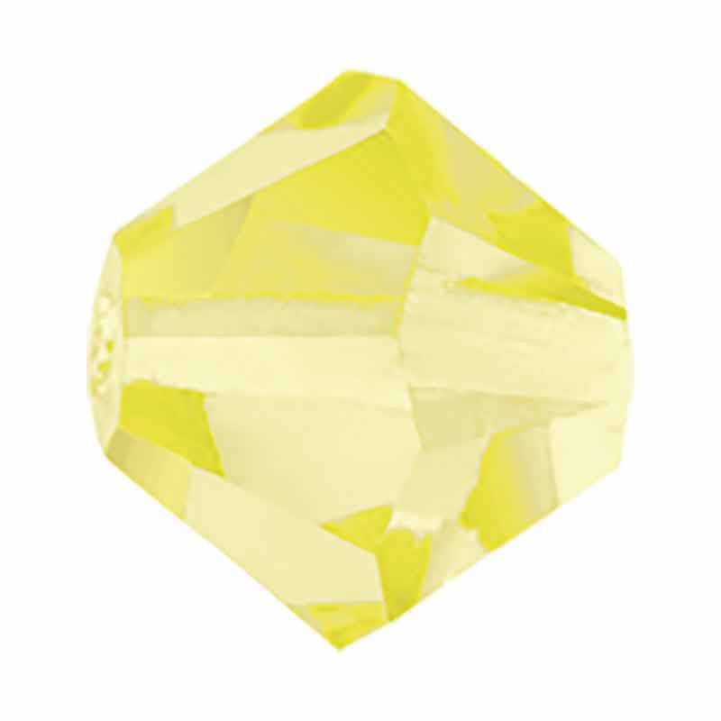 4MM Jonquil BiCone Rondell Preciosa Beads