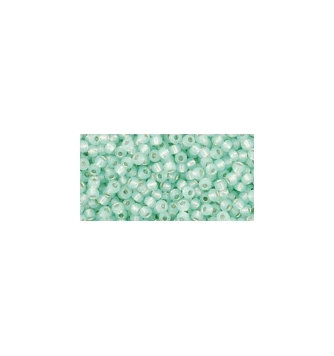 TR-11-2118 SILVER-LINED MILKY LT. PERIDOT TOHO SEED BEADS