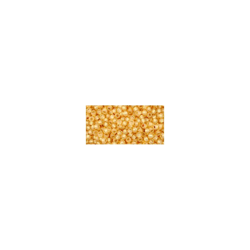 TR-11-950 INSIDE-COLOR JONQUIL/BURNT ORANGE LINED TOHO SEED BEADS