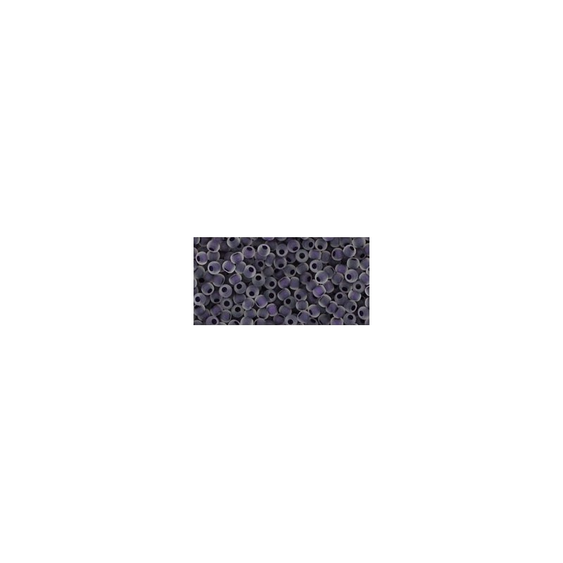 TR-11-774F INSIDE-COLOR CRYSTAL/GRAPE LINED TOHO SEED BEADS