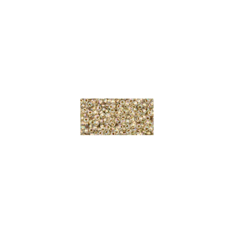 TR-11-994 GOLD LINED RAINBOW CRYSTAL TOHO SEED BEADS