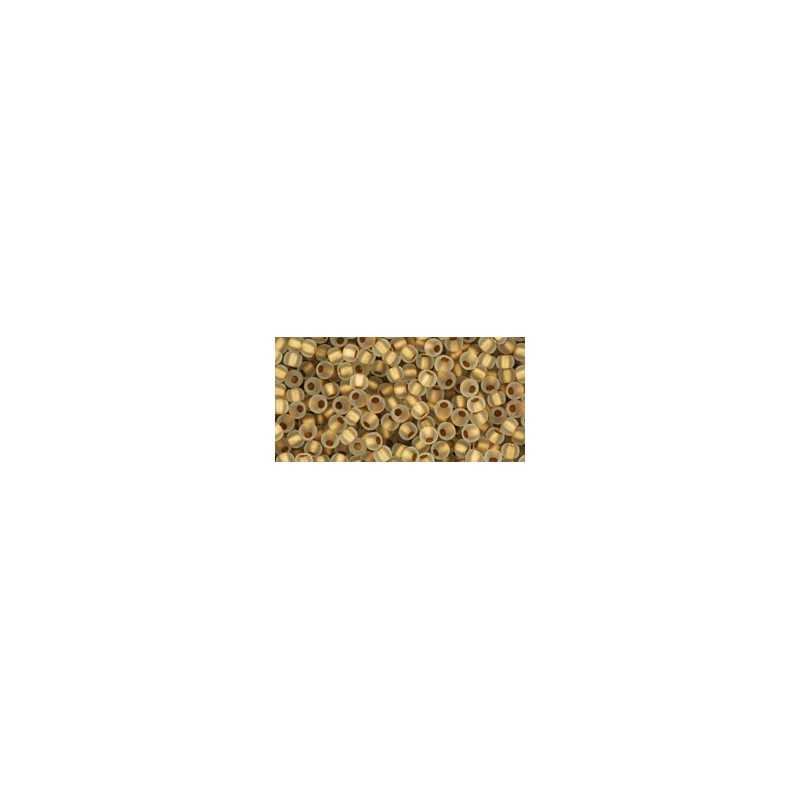 TR-11-989F FROSTED GOLD-LINED CRYSTAL TOHO SEED BEADS
