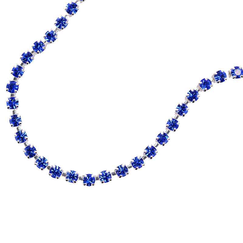 SS6.5(~2.1mm) Silver Plated Sapphire DF MAXIMA Cup Chain