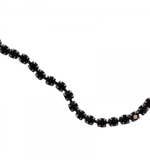 SS6.5(~2.1mm) Ruthenium Plated Jet DF MAXIMA Cup Chain