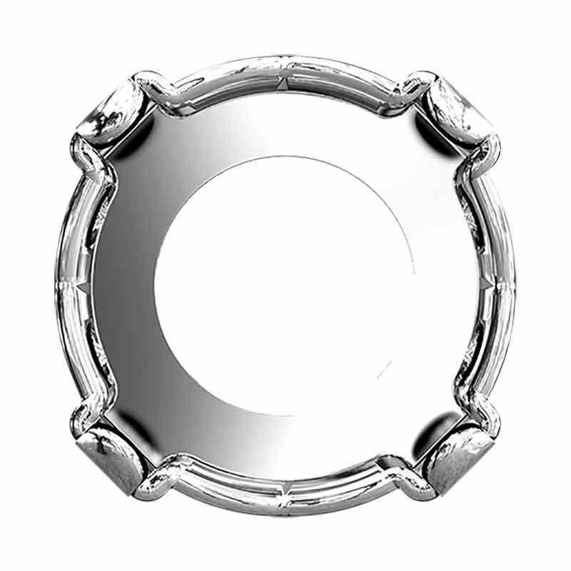 SS39 1088/S WHITE BRONZE Chaton Setting 4HOLES-OPEN