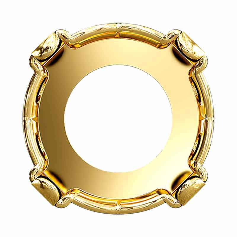 SS39 1088/S LIGHT GOLD Chaton Setting 4HOLES-OPEN