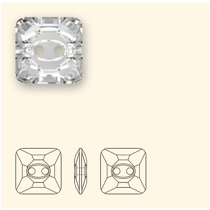 14MM Crystal M (001) Square 3017 Button SWAROVSKI ELEMENTS