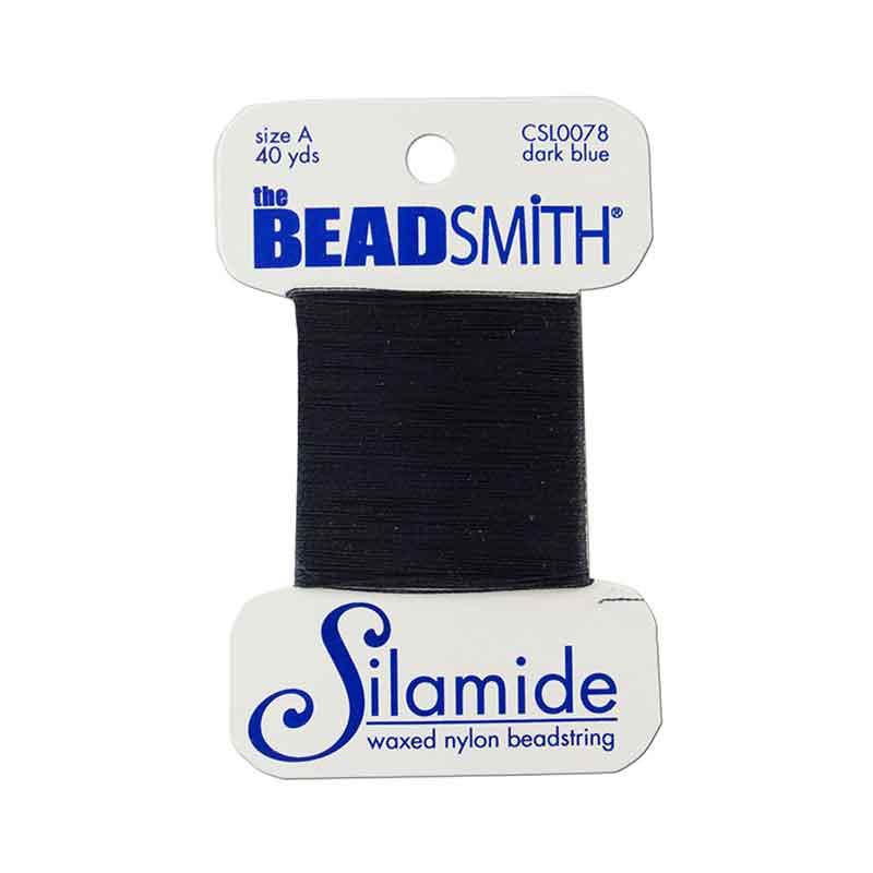 Silamide Dark Blue thread A 0,20mm 36,5m