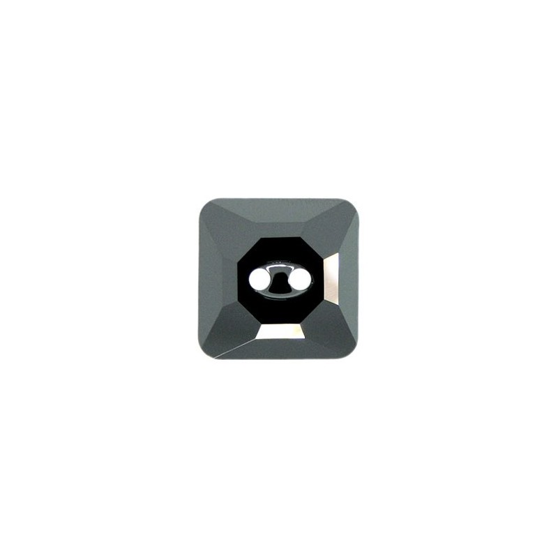 16MM Jet Hematite (280 HEM) Square 3017 Button SWAROVSKI ELEMENTS