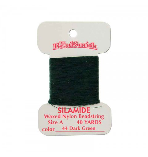 Silamide Dark Green thread A 0,20mm 36,5m