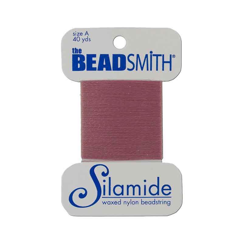 Silamide Dusty Rose thread A 0,20mm 36,5m