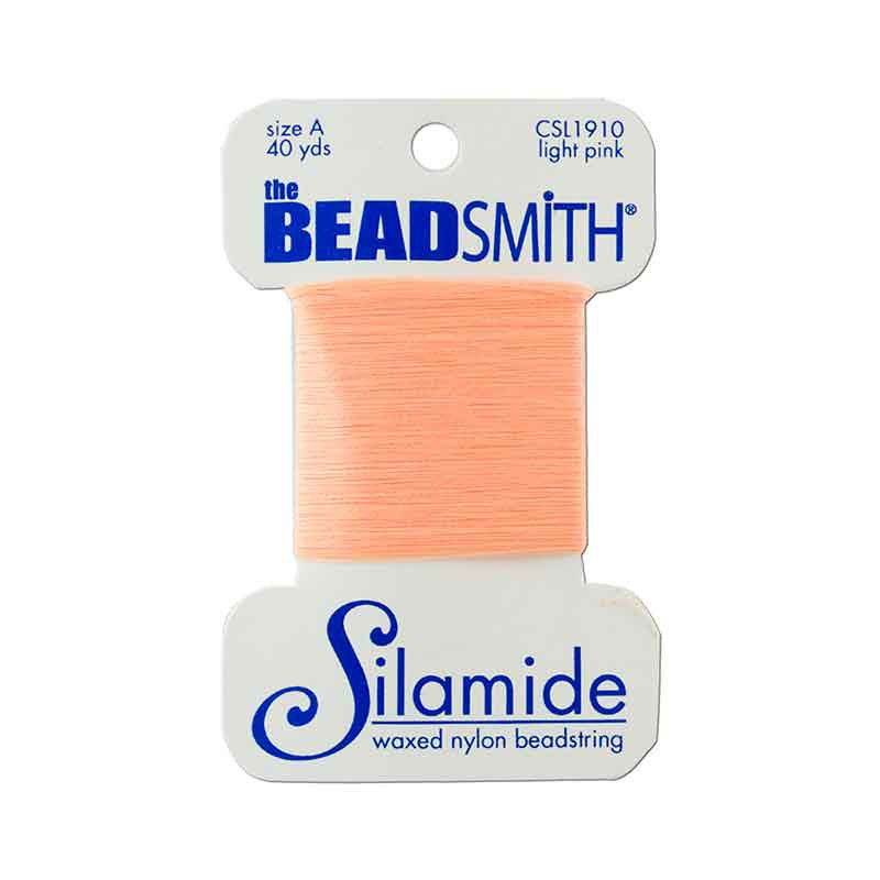 Silamide Light Pink thread A 0,20mm 36,5m