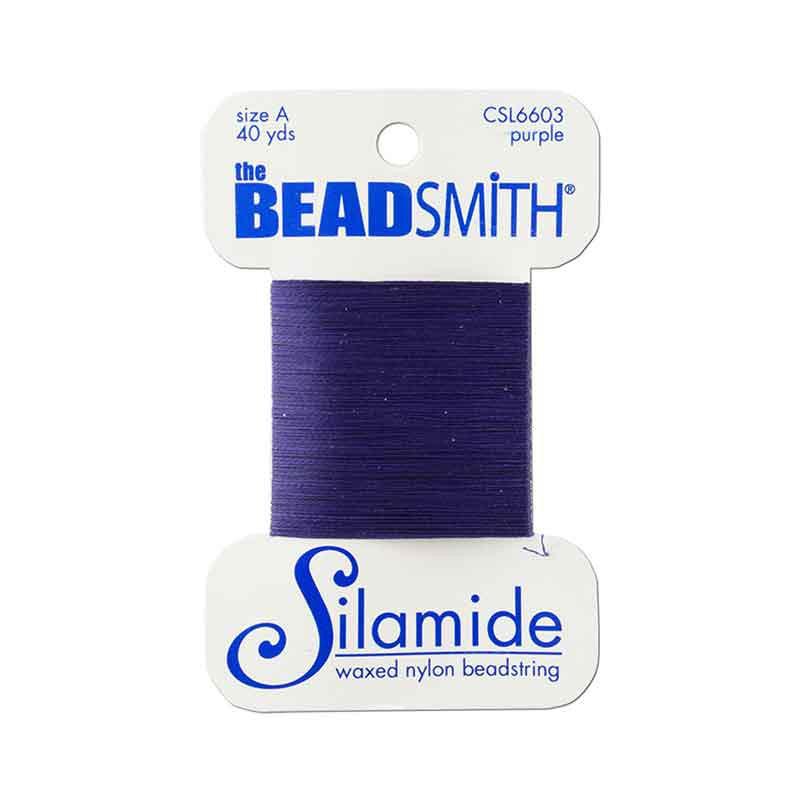 Silamide Purple thread A 0,20mm 36,5m