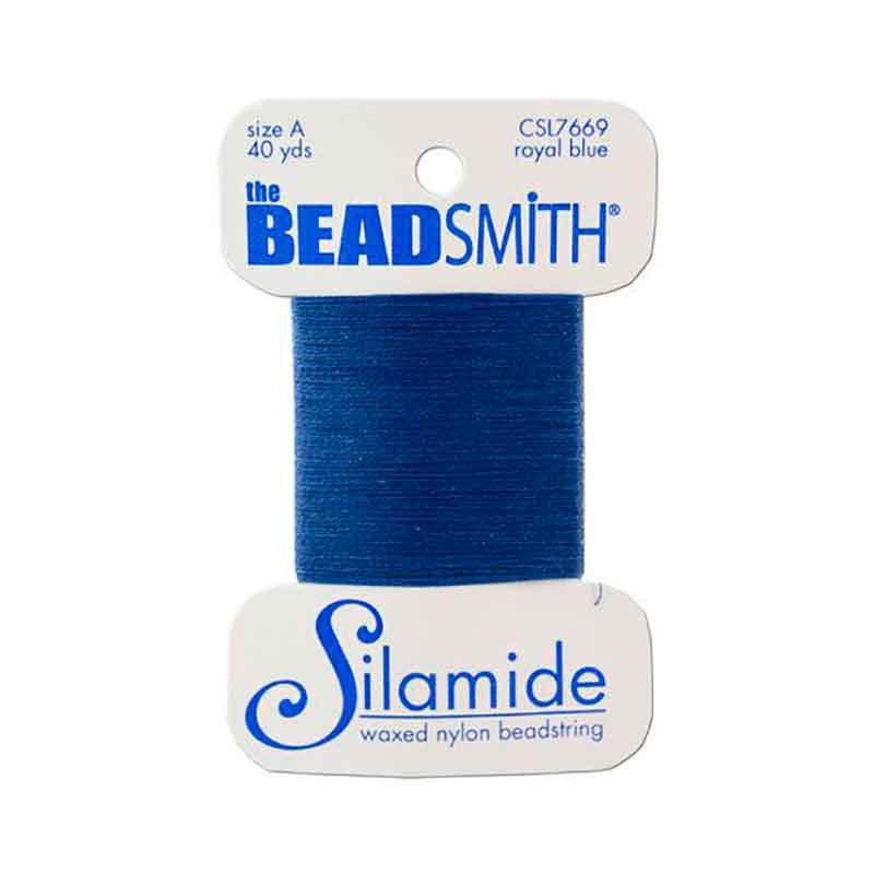 Silamide Royal Blue thread A 0,20mm 36,5m