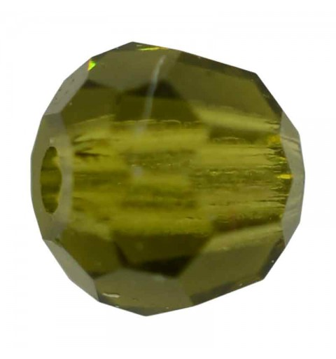 3MM Olivine Round Preciosa Beads