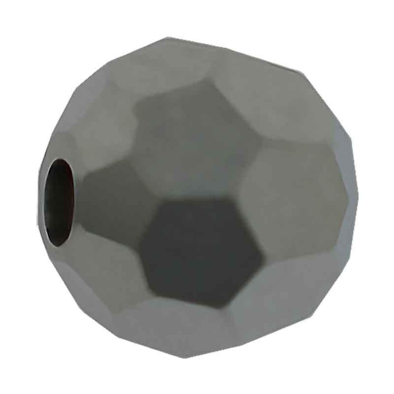 3MM Jet Hematite-f Round Preciosa Beads