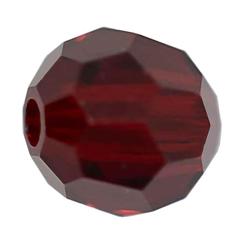 4MM Siam Round Preciosa Beads