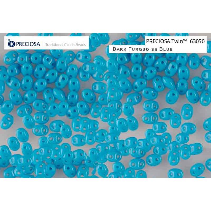 Twin-2RH-63050 Dark Turquoise Blue PRECIOSA-ORNELA Бисер