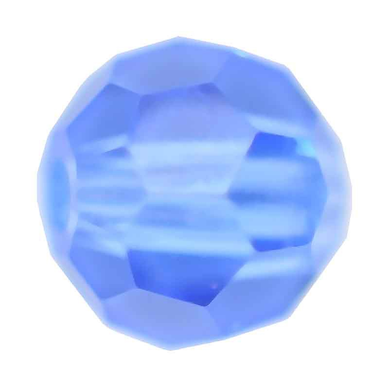 3MM Sapphire Round Preciosa Beads
