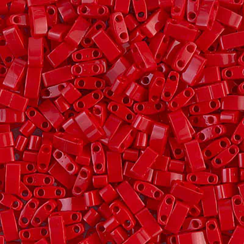 HTL-408 Opaque Red Miyuki Half Tila SEED BEADS